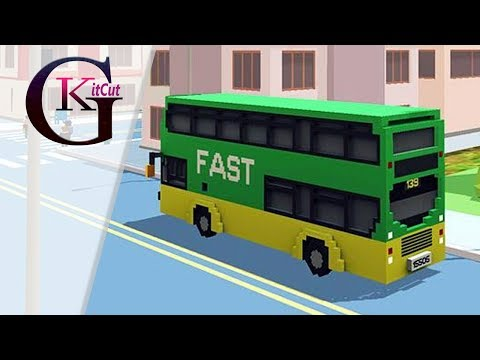 Blocky Bus SIM in USA, New York! Tourist Car DRIVING SIMULATOR For Kids |