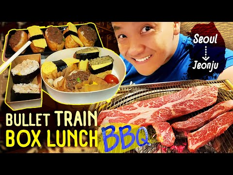 Korean BBQ BREAKFAST & BULLET TRAIN Box Lunch Seoul To Jeonju South Korea