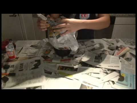C mo hacer una m scara del diablo de papel mach youtube - Como hacer una mascara ...