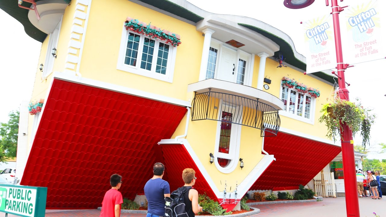 Upside down house niagara falls ontario youtube for Building a house in ontario