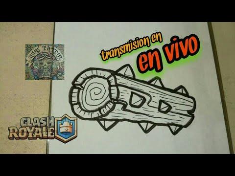 Como Dibujar El Tronco Legendario Clash Royale En Vivo