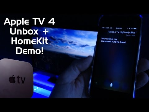 Apple TV 4th Generation Unboxing, Setup and Remote HomeKit Demo