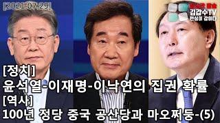 [정치]윤석열-이재명-이낙연의 집권 확률/[역사]100…