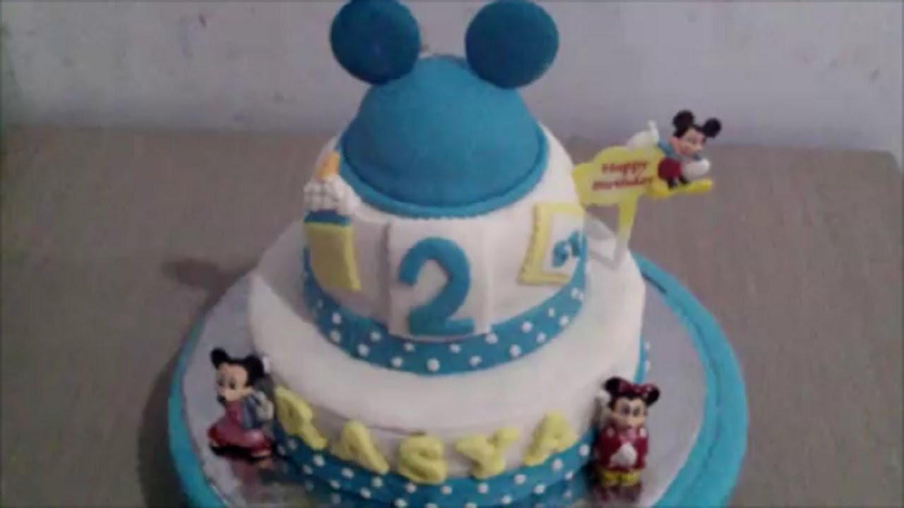 How to Make Mickey Mouse Two Tier Fondant Cake YouTube