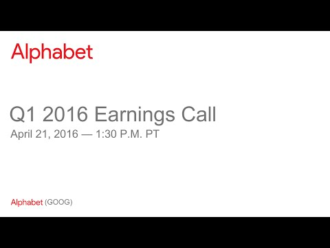 Alphabet Q1 2016 Earnings Call
