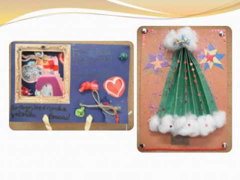 Concurso de postales navide as recicladas youtube - Como hacer tarjetas de navidad ...