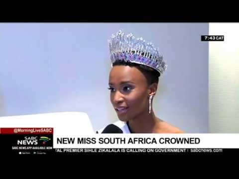 'I proudly state my name Zozibini Tunzi - Miss Universe 2019!'