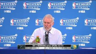 Gregg Popovich Postgame News Conference | Warriors vs Spurs Game 1 | May 14, 2017