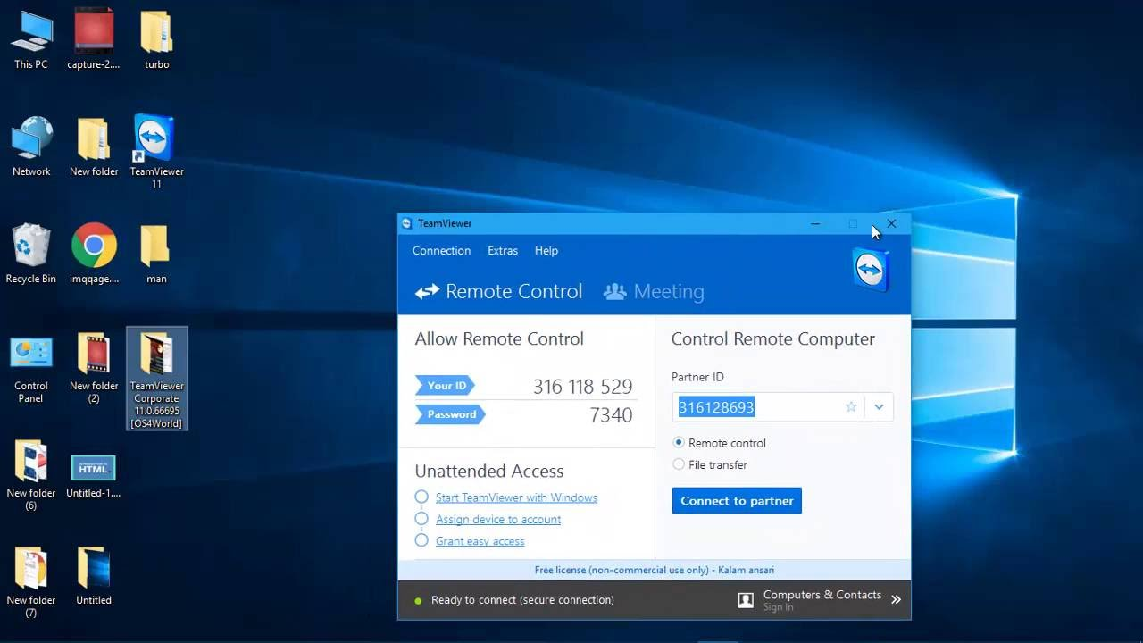 How to connect to your PC remotely with TeamViewer 11