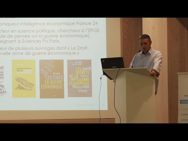 Droit et Intelligence économique - Conférence de M. Ali Laïdi