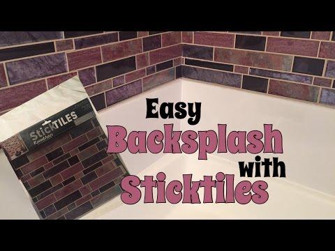 DIY Peel and Stick Backsplash - Bathroom Enhancement
