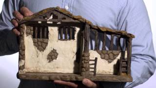 Lighted Stable For Real Life Nativity Set | The Catholic Company