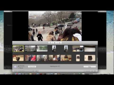 How to import video from iPhone to iMovie