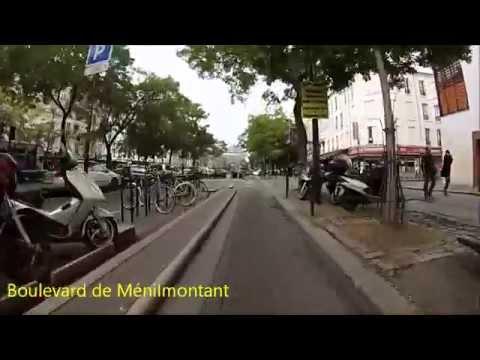 Cycling in Paris - Vincennes - Place Charles de Gaulle (Itinéraire officiel 5)