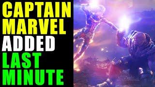 MCU - Captain Marvel Scene Added LAST MINUTE in Avengers Endgame Movie