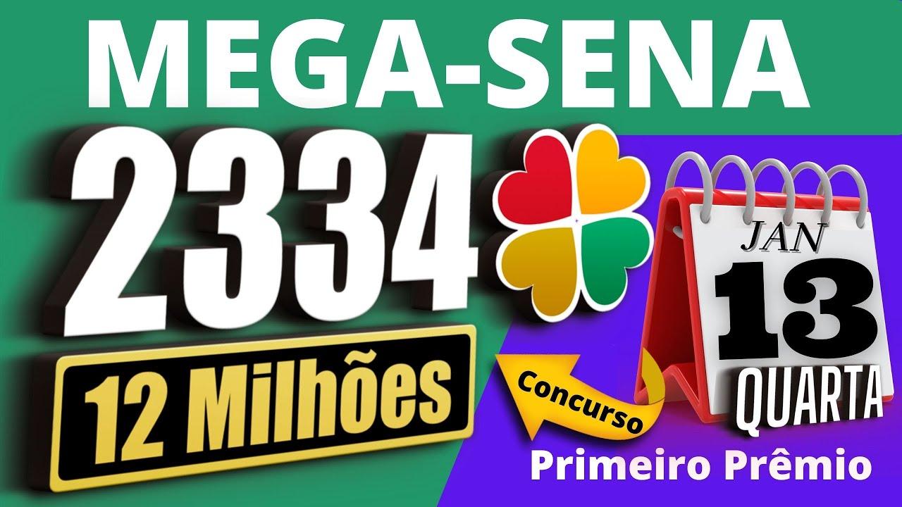 Resultado da Mega-Sena 2334 Quarta-Feira, Resultado da Mega-Sena de hoje  concurso 2334 - YouTube