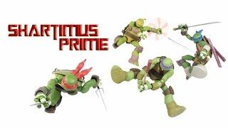 Revoltech TMNT Leonardo Donatello Raphael Michelangelo Nickelodeon Cartoon Figure Review