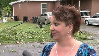 Storm damage in New Port Richey