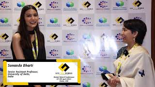 Ms. Sunanda Bharti sharing her thoughts on the LexTalk World Conference, Dubai 2021