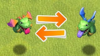 """BABY DRAGON CROSS OVER!! """"Clash Of Clans"""" NEW UPGRADE SKIN!!"""