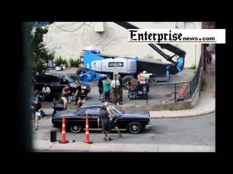 Detroit movie filming in downtown Brockton
