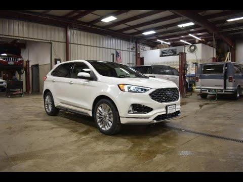 2020 Star White Ford Edge Titanium AWD FT6820 Motor Inn Auto Group