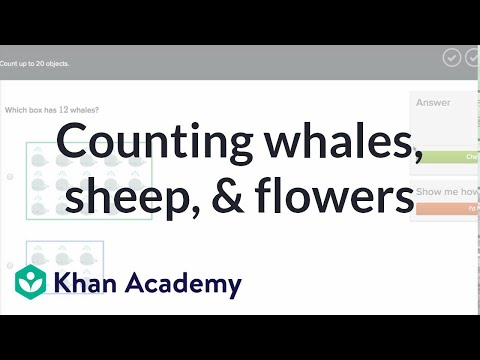 Counting Whales, Sheep, And Flowers | Counting | Early Math | Khan Academy