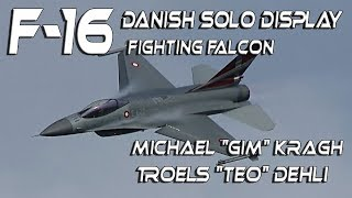 4K UHD F-16 Danish Solo Display  Michael