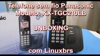 Telefone Sem Fio Panasonic KX-TGC210LB