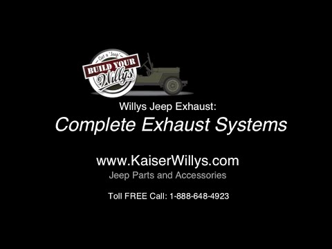 willys jeep complete exhaust systems