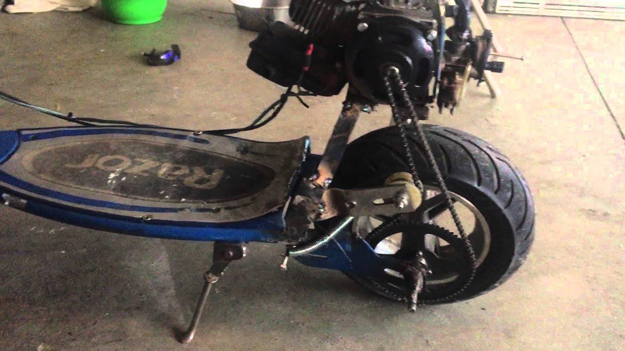 Razor Electric Scooter >> Razor e300 gas conversion goped - YouTube