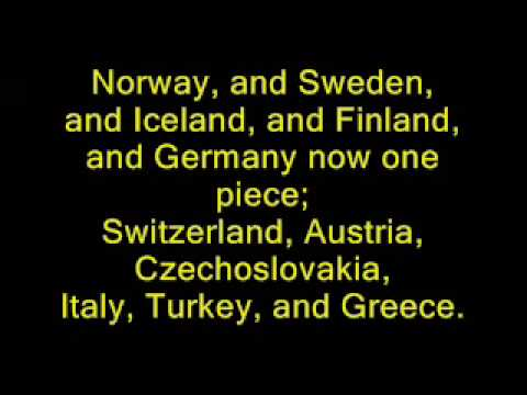 Yakko's Nations of The World Lyrics