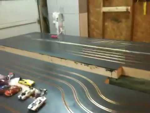 home made slot car wooden track