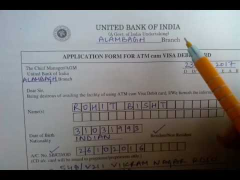 How to fill account atmdebit card apply form united bank of india how to fill account atmdebit card apply form united bank of india in hindi thecheapjerseys Images