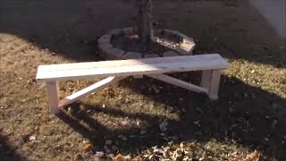 Beautiful, Simple Harvest Farmhouse Bench (DIY)