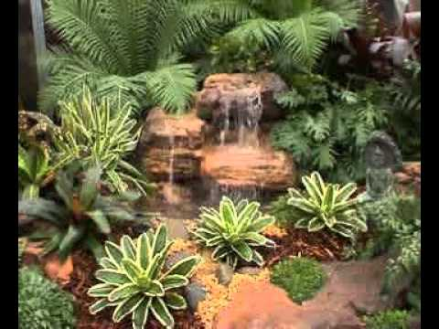 Small Rugged Rapids Beautiful Water Gardens Waterfall Rocks
