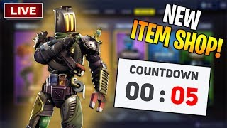 *NEW* ITEM SHOP LIVE COUNTDOWN! New Fortnite Skins February 9th LIVE! (Fortnite Item Shop Live)