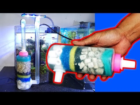 DIY Aquarium Filter | Using Internal Power Head And External Filter Media