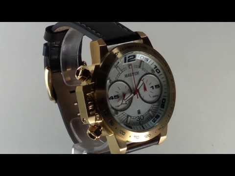 2b317a9d600 Relógio Masculino Magnum MA33666H - Dourado