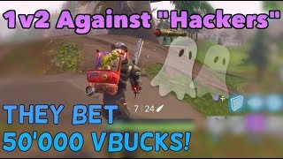"""Hackers"" Bet 50'000 Vbucks That I Can't Kill Them in 1v2 - Fortnite Playgrounds vs Dumb Crazy Kids"