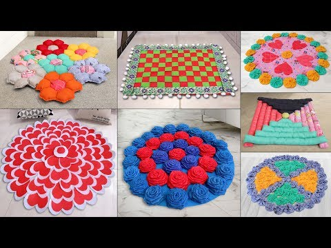 10 Beautiful Home Useful Doormat ideas !!! Best Out of Waste Craft Ideas
