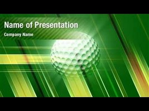 Golf Ball Powerpoint Video Template Backgrounds Digitalofficepro