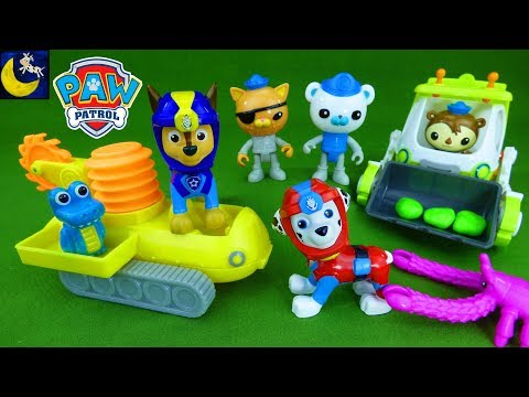 Paw Patrol Help Octonauts Rescue Animals! Sea Patrol Toys Vehicles Funny Toy Stories for Kids Video