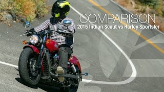 2015 Indian Scout vs. Harley Sportster Part 1 - MotoUSA