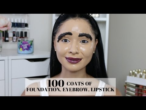 100 Coats Of Foundation, Eyebrow, Lipstick & Highlight