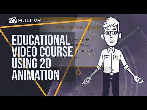 Создание учебного видеокурса с применением 2D анимации