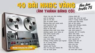 40 Bài Nhạc Vàng Bolero Chọn Lọc (Âm Thanh Từ Băng Cối Thu Âm Trước 1975)