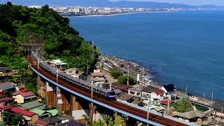 横須賀線E235系 F-01編成 東海道線試運転 早川~根府川間通過