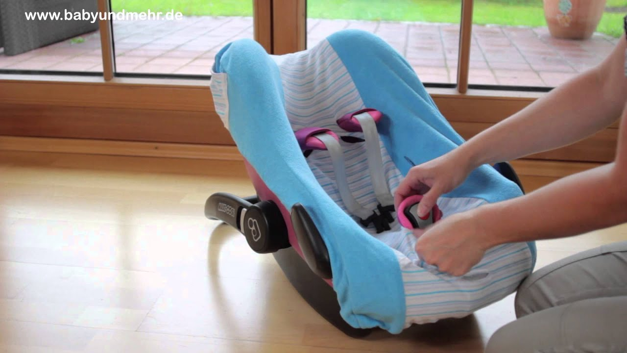bybum bezug frottee streifen auf maxi cosi pebble babyschale youtube. Black Bedroom Furniture Sets. Home Design Ideas