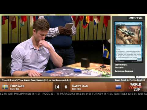 2015 World Magic Cup Stage 1, Round 3 (Team Sealed): Sweden vs. New Zealand